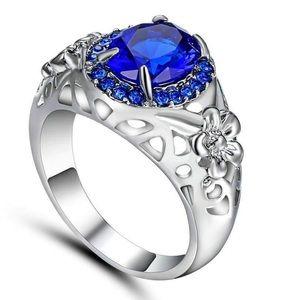 ‼️3 for 20$‼️ Blue Crystal White Rhodium ring